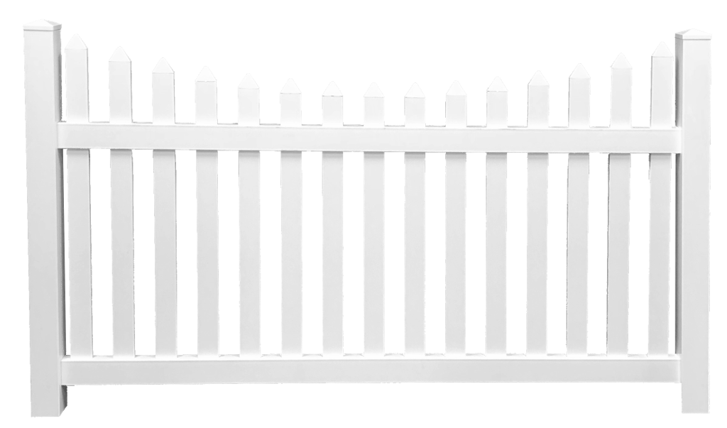 3 Inch Scallop Fence