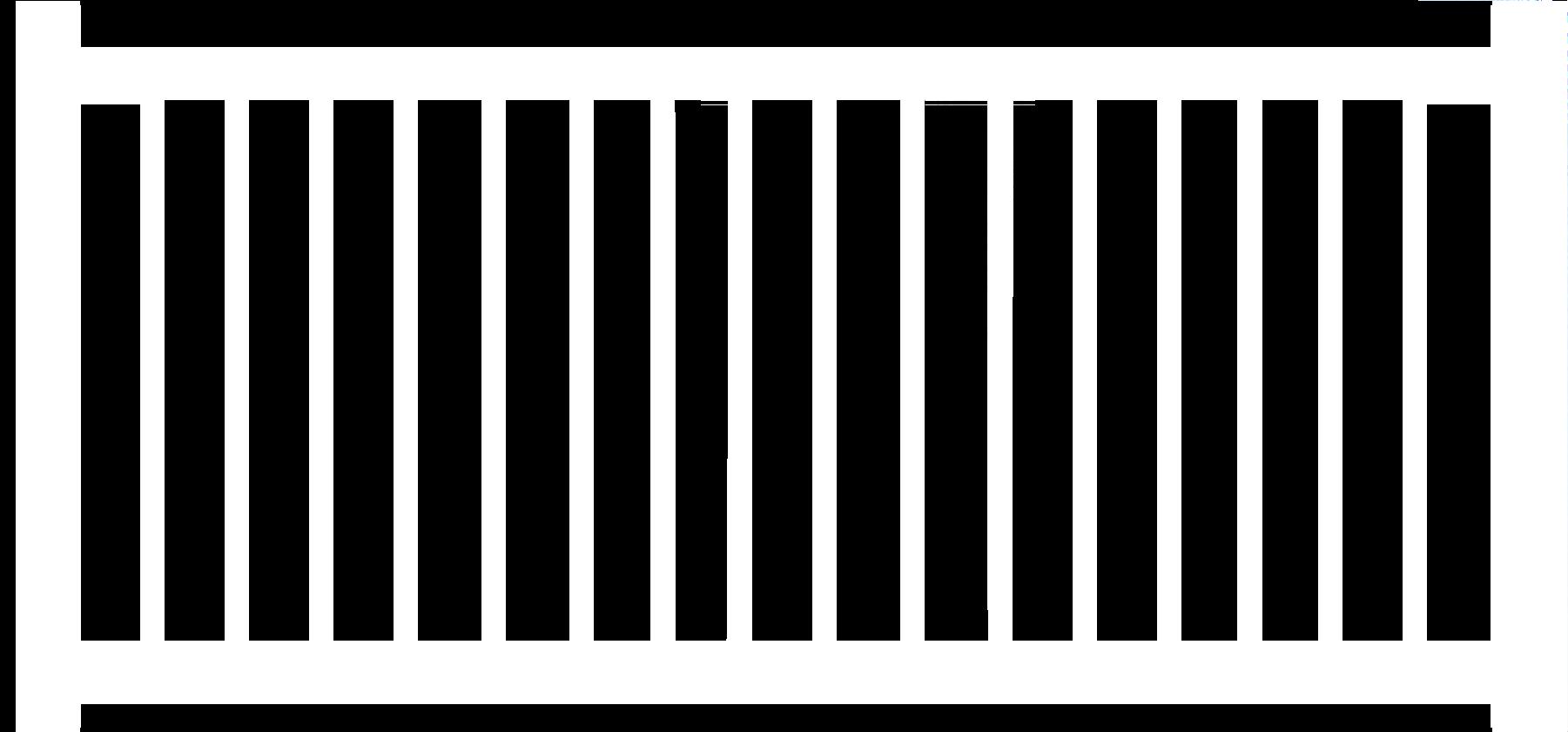 "1-1/2"" Vinyl Pool Code Fence"