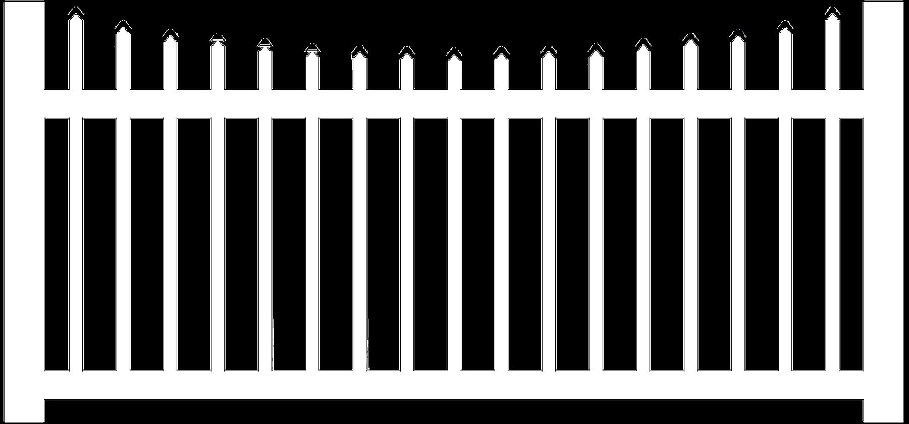 "1-1/2"" Vinyl Scalloped Picket Fence"