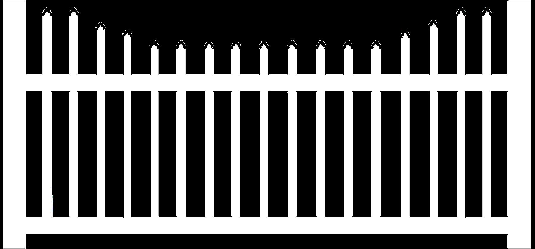 "1-1/2"" Vinyl Xcalibur Picket Fence"